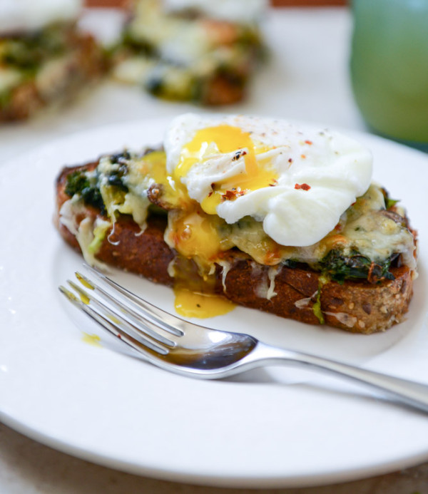 #7 Broiled Fontina Toasts with Roasted Garlic and Poached Eggs