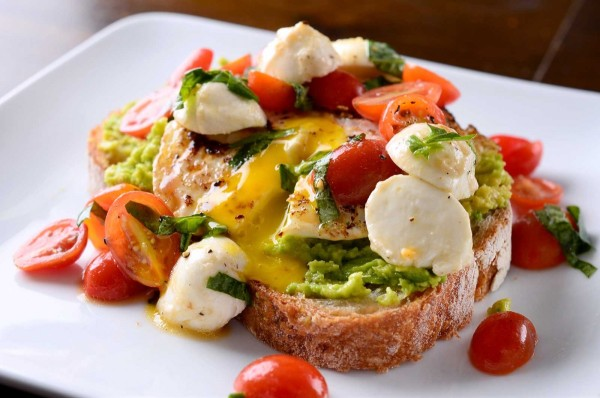 #8 Caprese Avocado Breakfast Toast