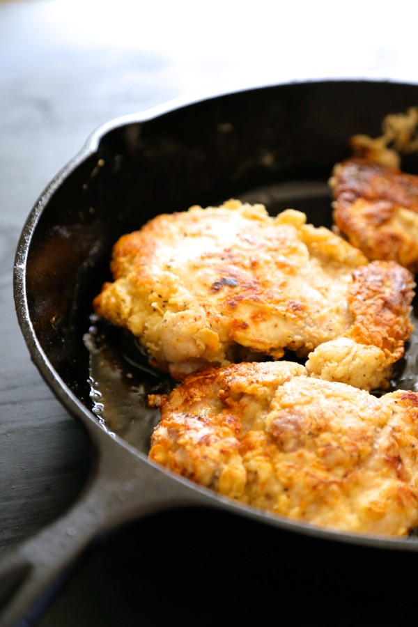 15-minute skillet fried chicken with tabasco honey sauce
