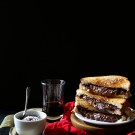 grilled cheese & chocolate sandwich with ganache dipping sauce www.climbinbggriermountain.com