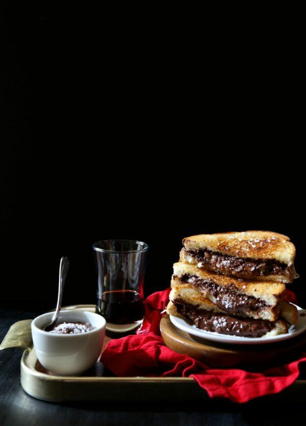 grilled cheese & chocolate sandwich with ganache dipping sauce www.climbinbggriermountain.com