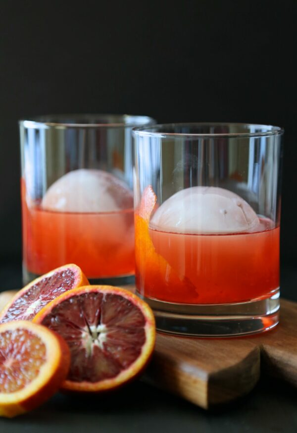 blood orange whiskey negroni www.climbinggriermountain.com