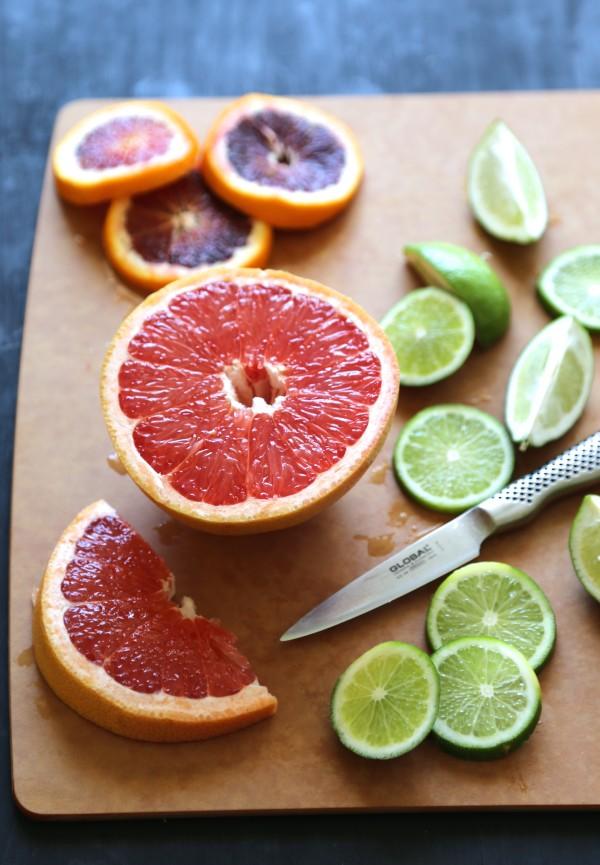 grapefruit margarita with ginger salt rim www.climbinggriermountain.com