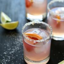 Grapefruit Margarita with Ginger Salt Rim