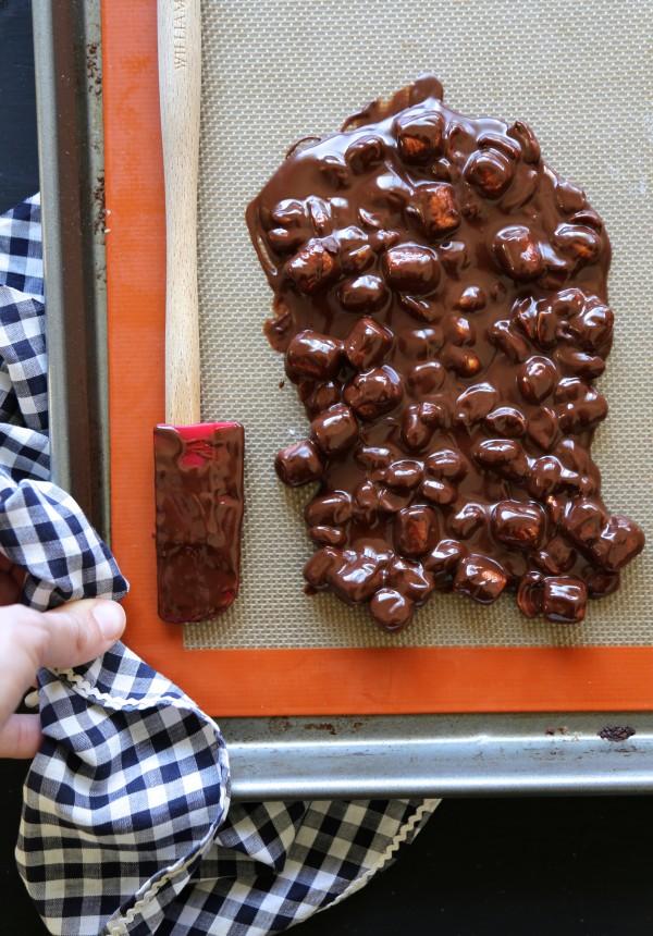 rocky road brownie bites www.climbinggriermountain.com
