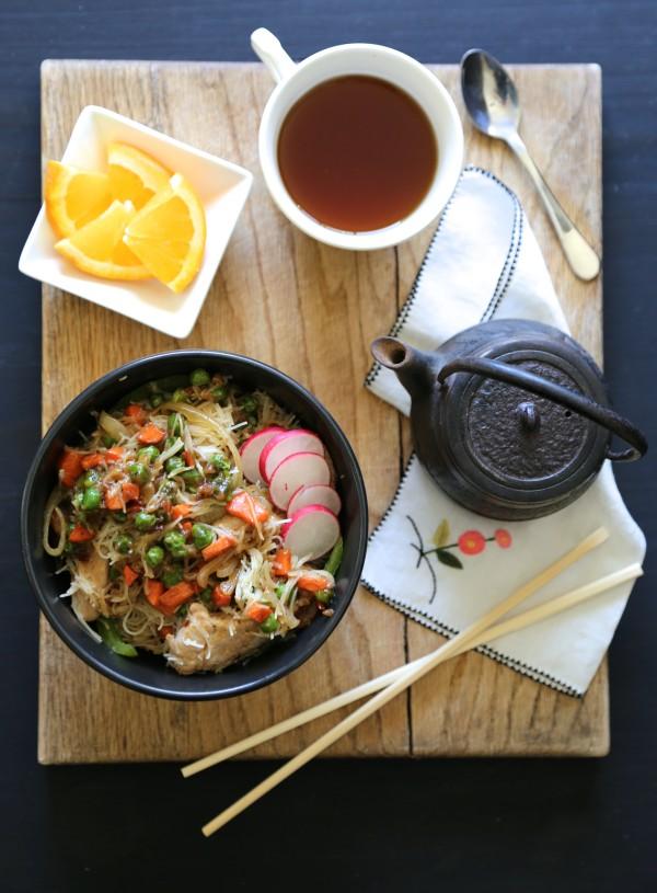 orange sesame pork noodle bowl www.climbinggriermountain.com