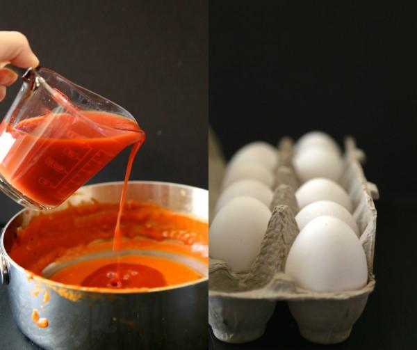eggs and tomato