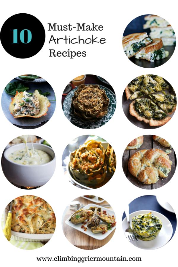 ten must-make artichoke recipes www.climbinggriermountain.com