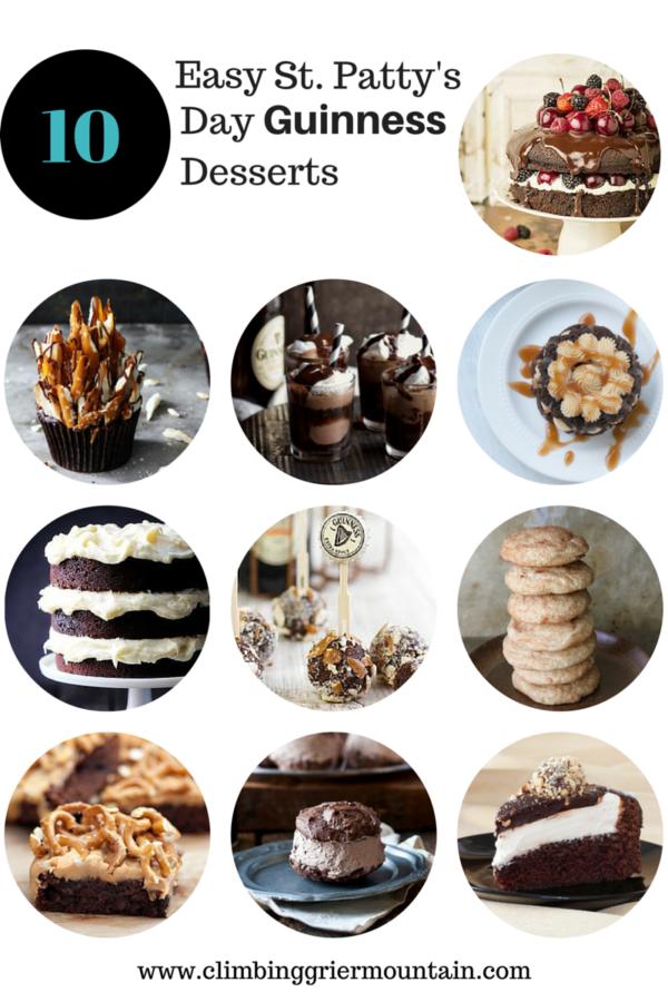 ten easy st. patty's guinness desserts www.climbinggriermountain.com