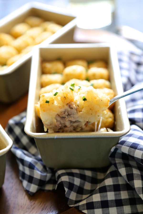 Mini Bacon and Bourbon Tater Tot Casseroles  www.climbinggriermountain.com