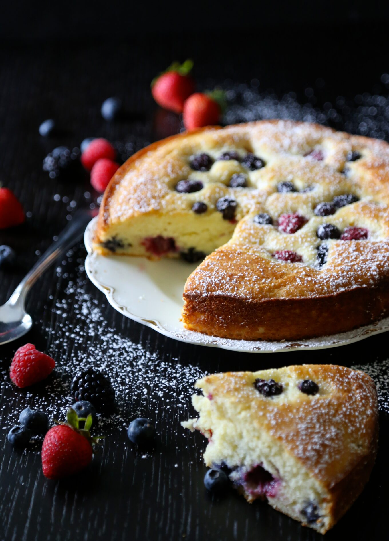 Easy Ricotta Cake With Fresh Berries