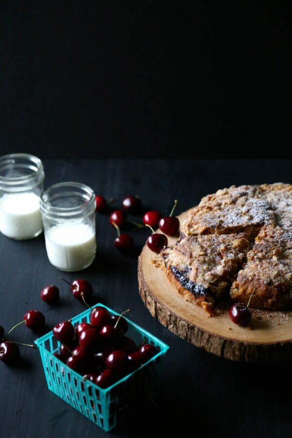chocolate cherry cake with chocolate oat stresual www.climbinggriermountain.com
