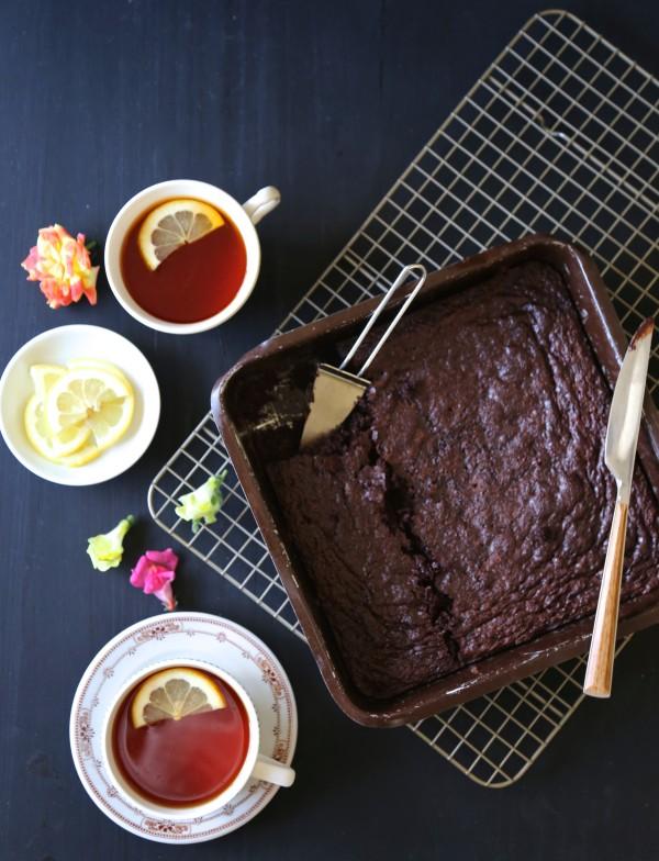earl grey chocolate brownies with lemon sugar www.climbinggriermountain.com