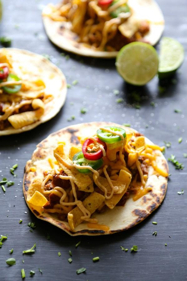 beef & chorizo chili cheese tacos with chipotle mayo II