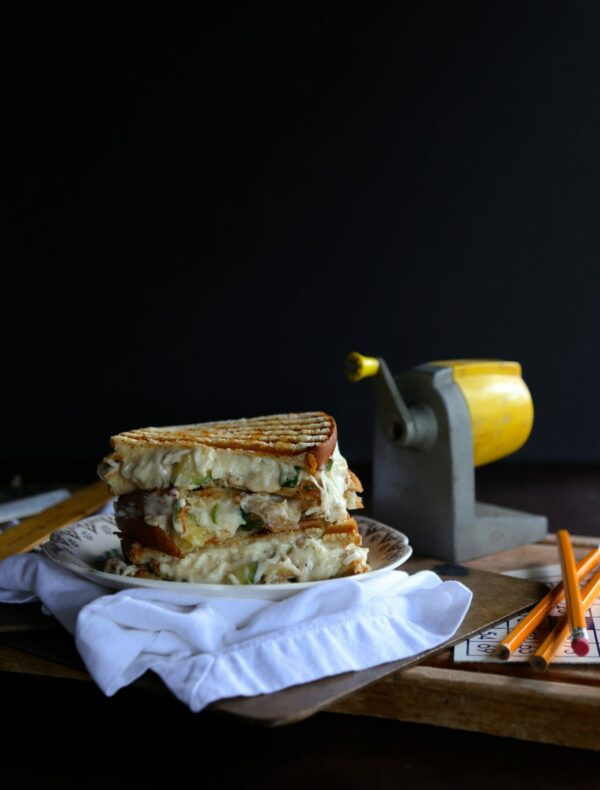 greek yogurt chicken alfredo grilled cheese www.climbinggriermountain.com