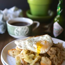 ciabatta fennel hash with sunny-side up egg www.climbinggriermountain.com II