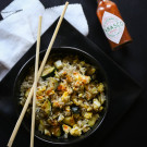 fried rice veggie bowls www.climbinggriermountain.com