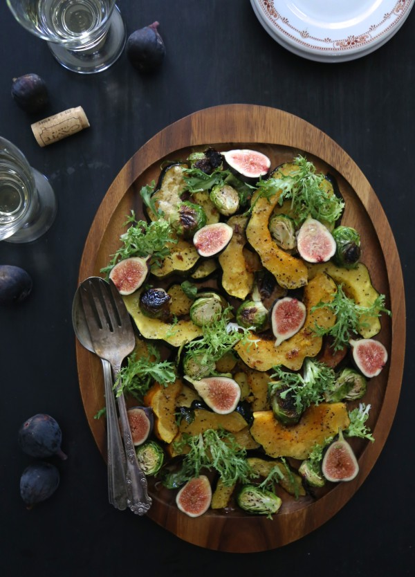 Brussel Sprout & Ginger Roasted Squash Salad www.climbinggriermountain.com II