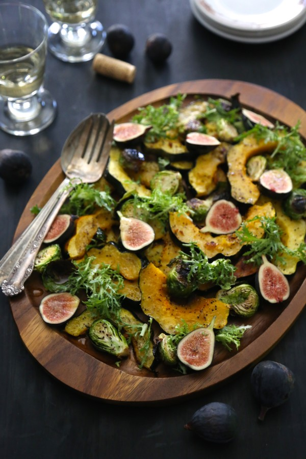 Brussel Sprout & Ginger Roasted Squash Salad www.climbinggriermountain.com III