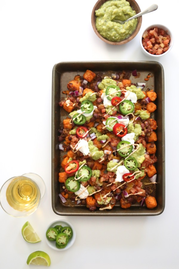 Ultimate Sweet Potato Totchos with Chipotle Aioli www.climbinggriermountain.com II