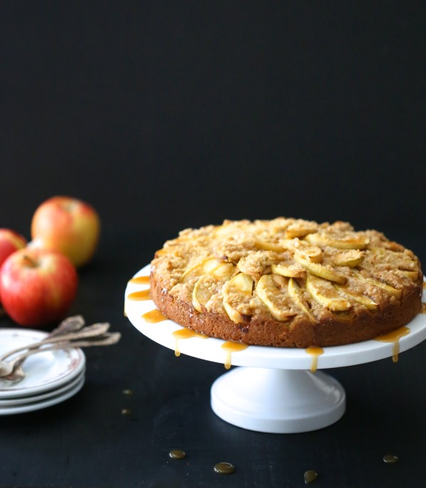 pumpkin apple cake with caramel sauce www.climbinggriermountain.com II