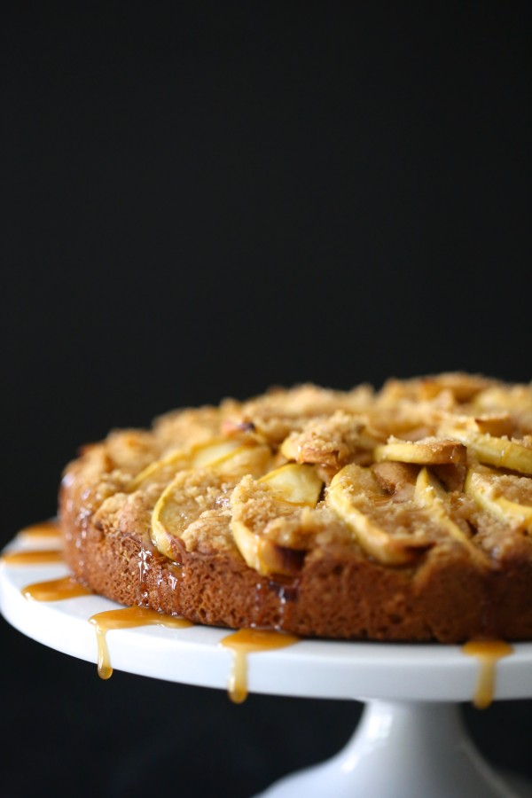 pumpkin apple cake with caramel www.climbinggriermountain.com