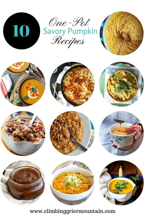 ten one-pot savory pumpkin recipes www.climbinggriermountain.com