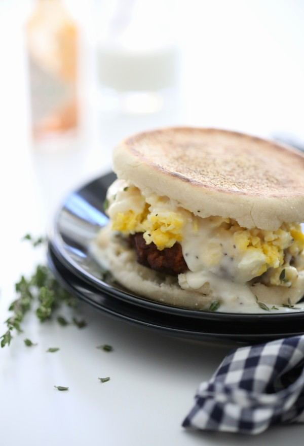 Chorizo Sausage Egg Breakfast Sandwiches with Gravy www.climbinggriermountain.com