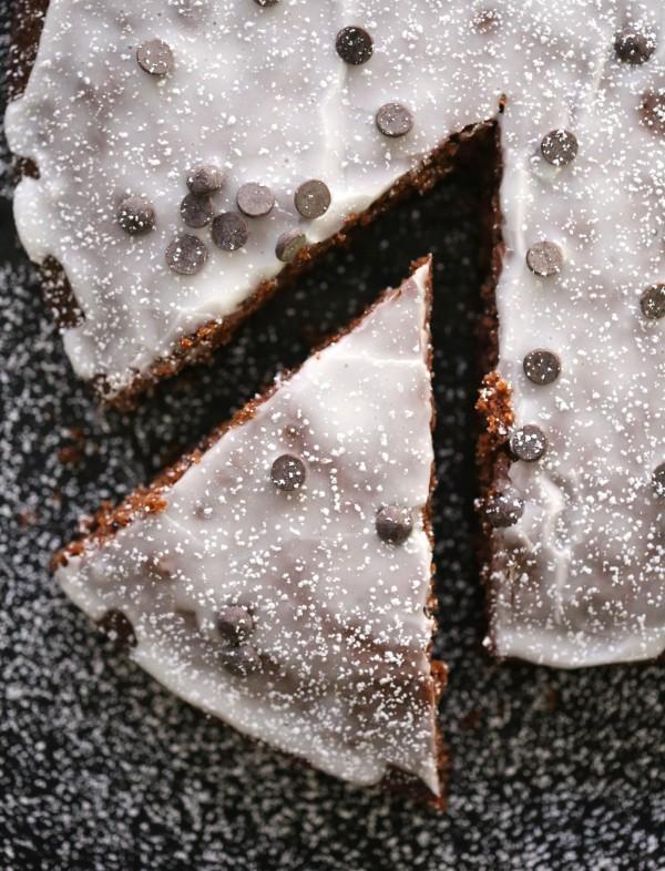 chocolate chip brownie snack cake www.climbinggriermountain.com