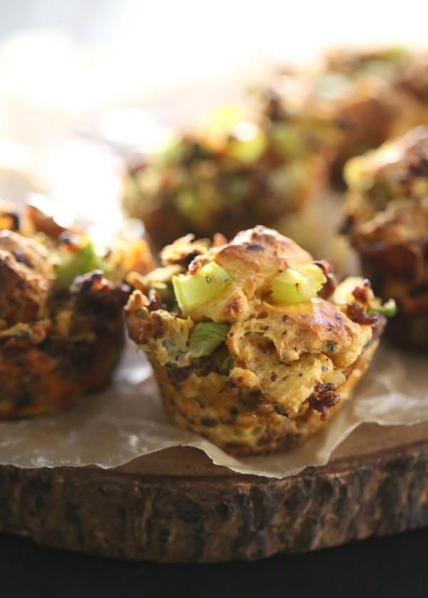 Chorizo & Brussel Sprout Stuffing Muffins www.climbinggriermountain.com II