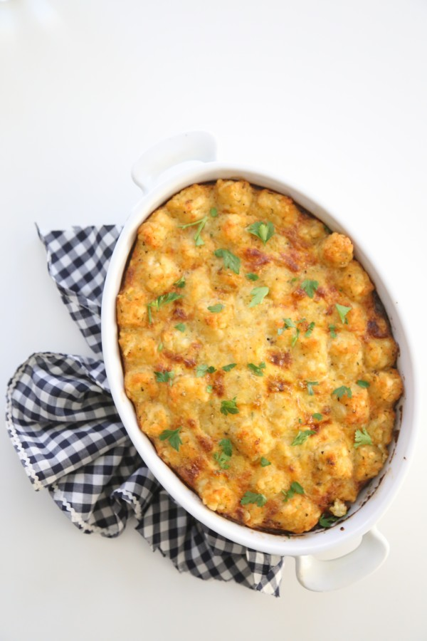 Smoked Sausage and Spinach Tater Tot Breakfast Bake www.climbinggriermountain.com I