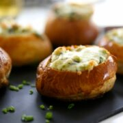 Mini Brussel Sprout & Spinach Dip Bread Bowls www.climbinggriermountain.com II