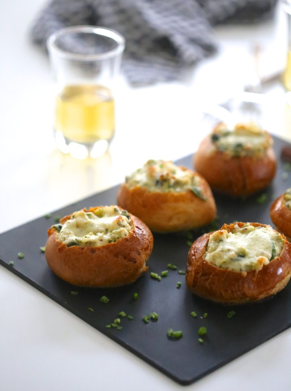 Mini Brussel Sprout & Spinach Dip Bread Bowls www.climbinggriermountain.comjpg