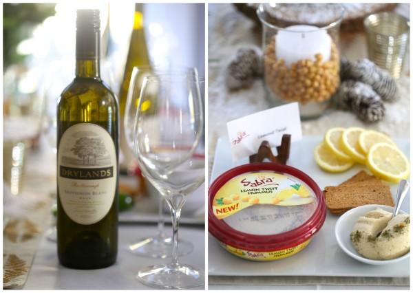 how to host a hummus & wine pairing party lemon www.climbinggriermountain.com