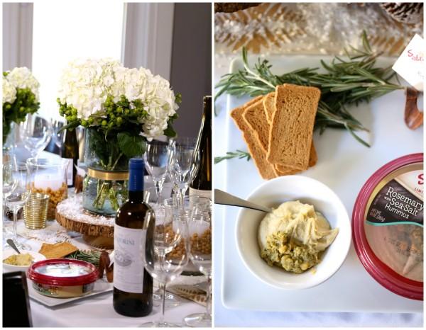 how to host a hummus & wine pairing party rosemary sea salt www.climbinggriermountain.com