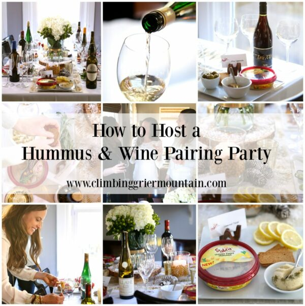 how to host a hummus & wine pairing party www.climbinggriermountain.com I