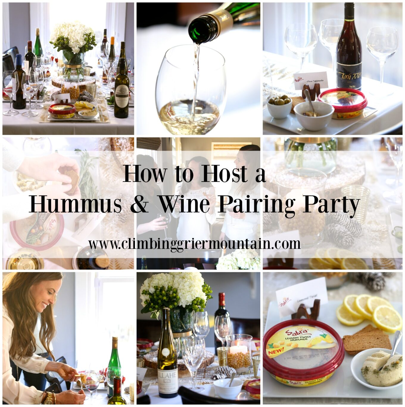 how to host a hummus & wine pairing party - Climbing Grier Mountain