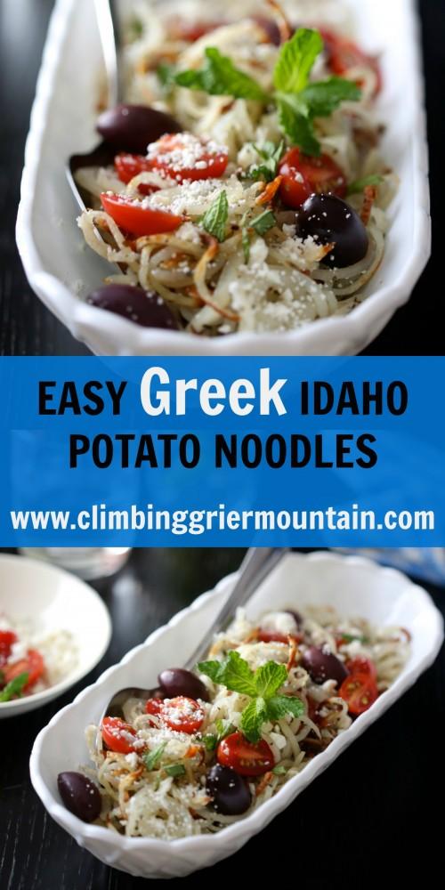 EASY GREEK IDAHO POTATO NOODLES WWW.CLIMBINGGRIERMOUNTAIN.COM COLLAGE