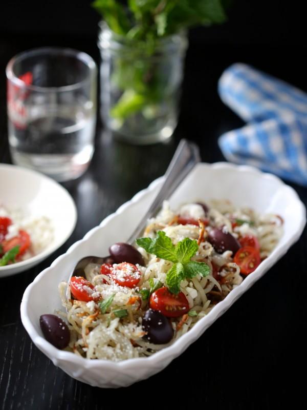 Easy Greek Idaho Potato Noodles with Fresh Mint www.climbinggriermountain.com II