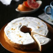 Grapefruit Pound Cake with Ginger Marshmallow Icing www.climbinggriermountain.com