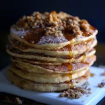easy churro pancakes with sweet potato chip streusel www.climbinggriermountain.com I