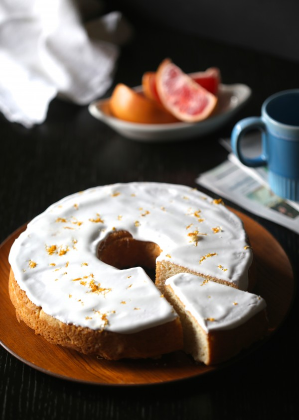 grapefruit pound cake with ginger marshmallow icing www.climbinggriermountain.com III