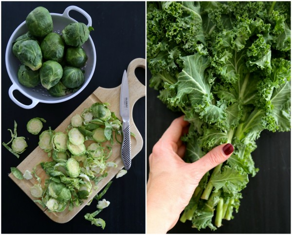 kale and brussel sprout