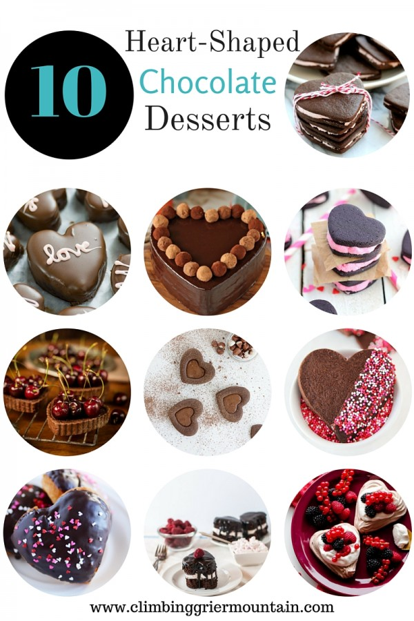 10 Heart-Shaped Chocolate Dessert Recipes www.climbinggriermountain.com