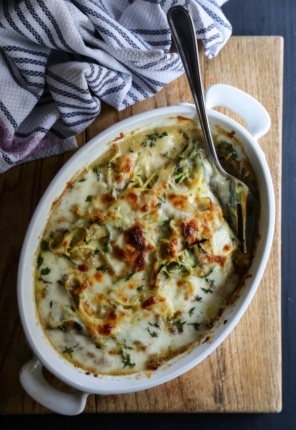 French Onion Zoodle Bake www.climbinggriermountain.com I