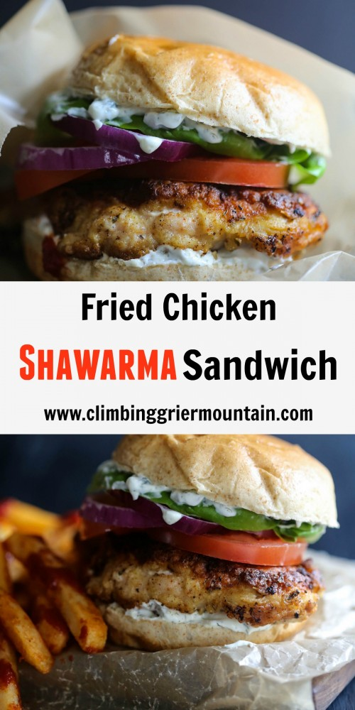 Fried Chicken Shawarma Sandwich www.climbinggriermountain.com II