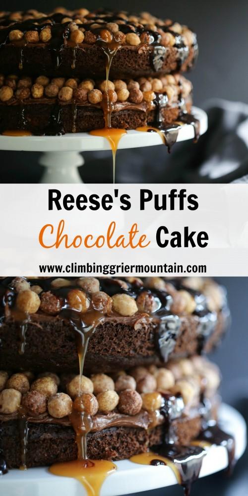Reese's Puffs Chocolate Cake www.climbinggriermountain.com