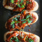 Loaded Sweet & Sour Turkey Meatball Subs www.climbinggriermountain.com