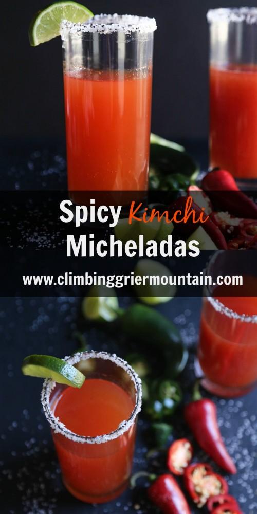 Spicy Kimchi Micheladas