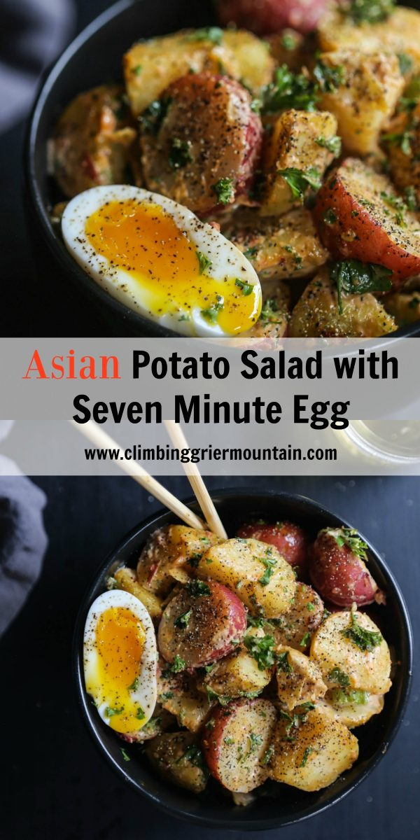 Asian Potato Salad with Seven Minute Egg